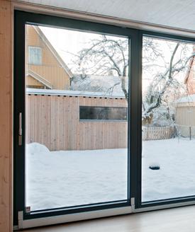 Energy-efficient parallel slide and tilt window.