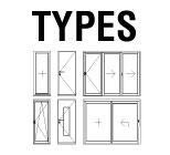 Energy-efficient windows and doors types.
