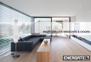 Energy-saving, passive house windows and doors from ENERGATE
