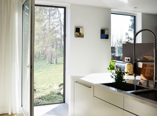 Passive house patio door balcony