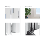 Select between visible or concealed hinge for our energy-saving window.